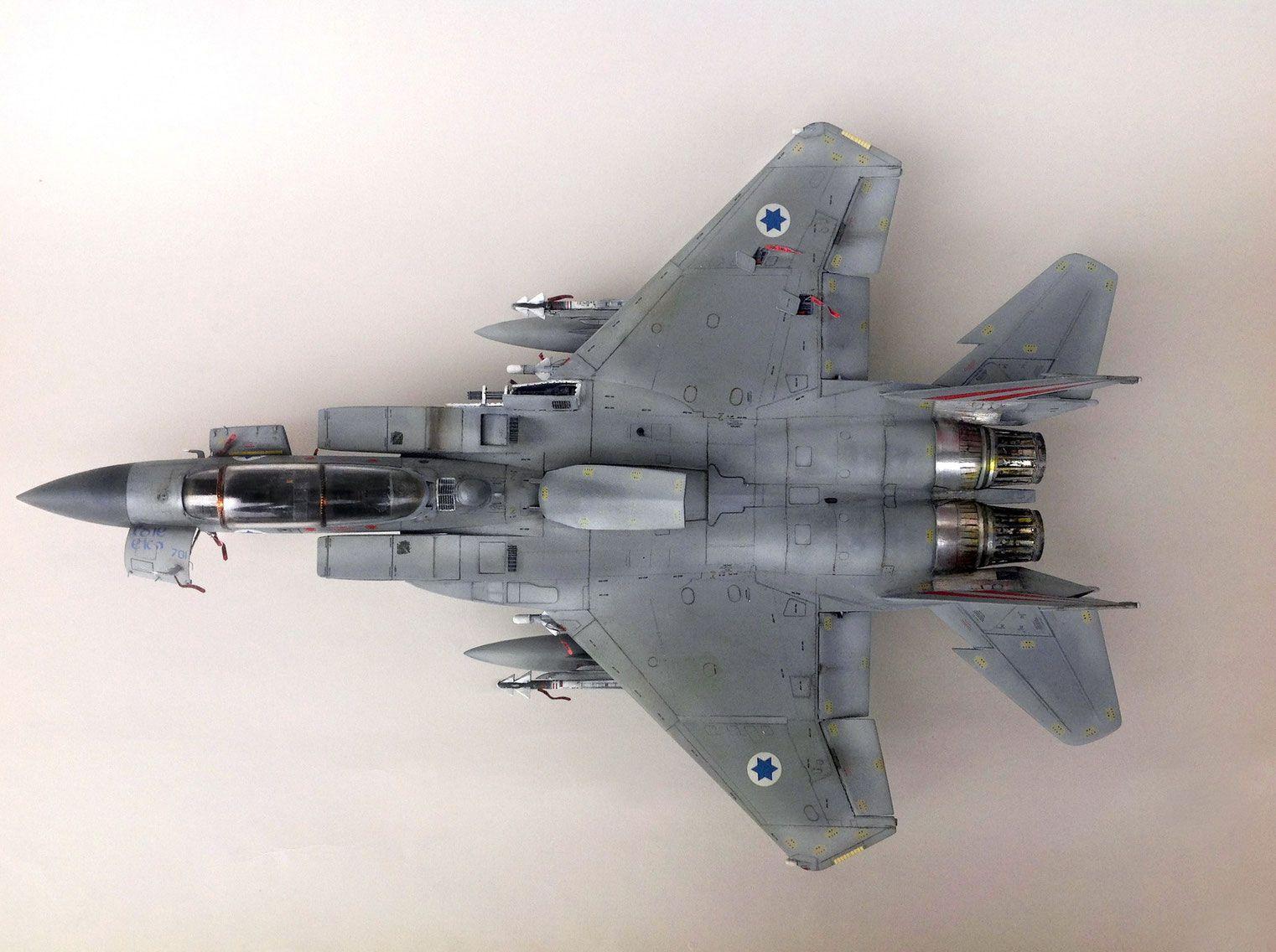 Fighter Jet Plastic Combat Aircraft Model F15 F-15 Israel Air Force IDF Plane