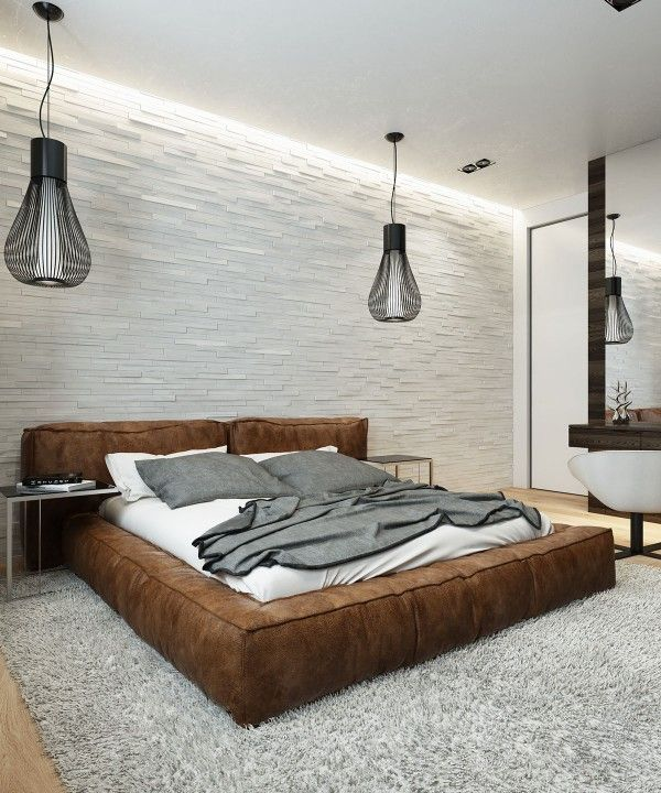 soft-leather-bed Wall Textures Pinterest Bedrooms, Interiors