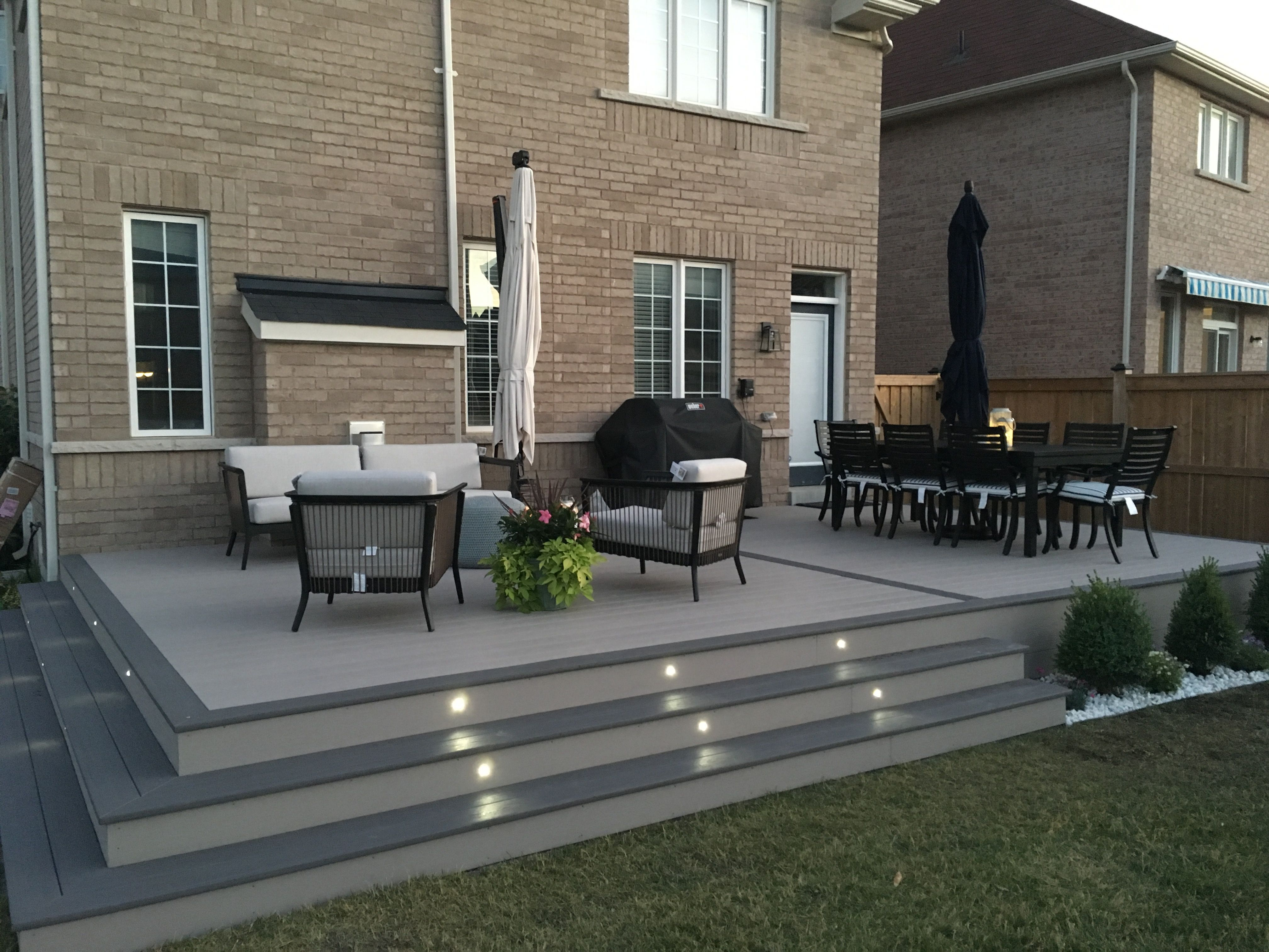 Azek Deck A Mini Pool Is Quickly Set Up Often Surprisingly Cheap And The Suitable Uncomp In 2020 With Images Patio Garden Design Backyard Landscaping Designs Backyard Patio