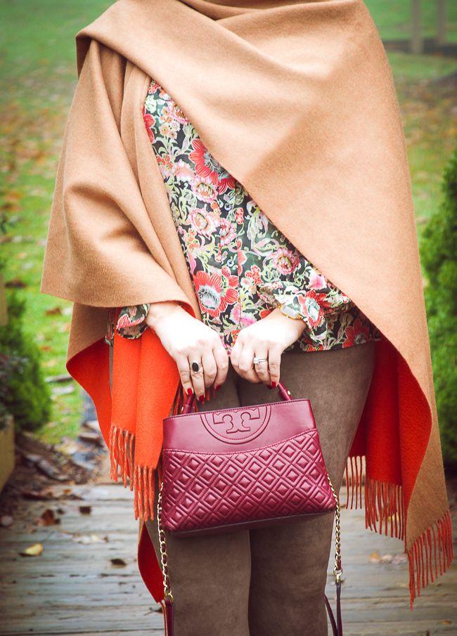 Orange Crush - Styling a Merino Wool Poncho - Pender & Peony - A Southern Blog