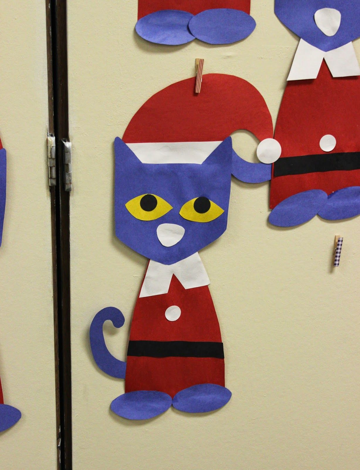 Pete The Cat Christmas.Pete The Cat Saves Christmas Craft Template Fantastic