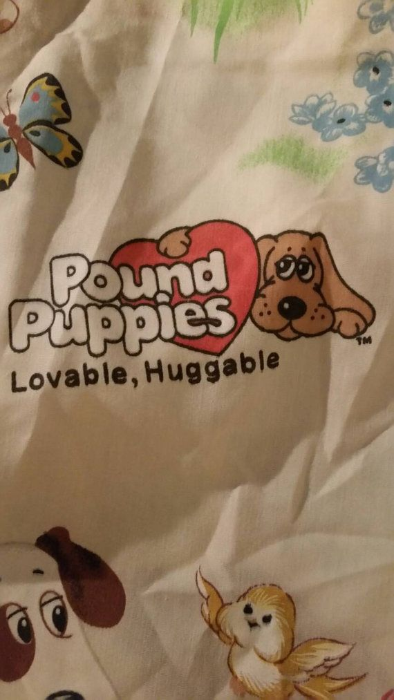 Vintage 1985 pound puppies tonka flat sheet Pound
