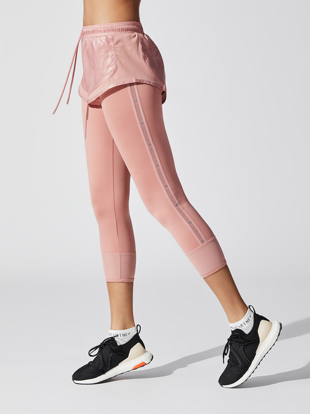 Pink Womens Adidas Stella McCartney Leggings Bottoms Pants Running Fitness Gym