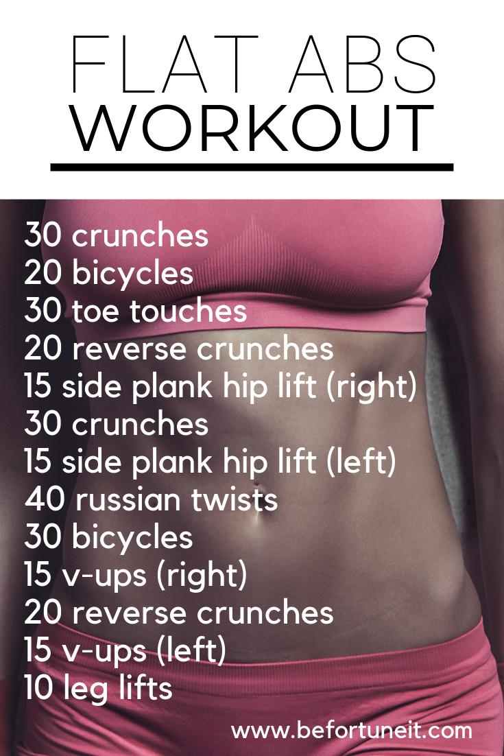 Flat Abs Workout - Be Fortuneit - #Abs #Flat #fortuneit #workout