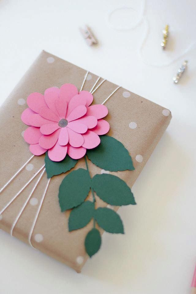 Pin by manuela vasquez on manualidades recicladas pinterest this is beautiful gift wrap would make a lovely present for you mum or grandmother paper flower gift wrap pink bloom via anastasia marie mightylinksfo