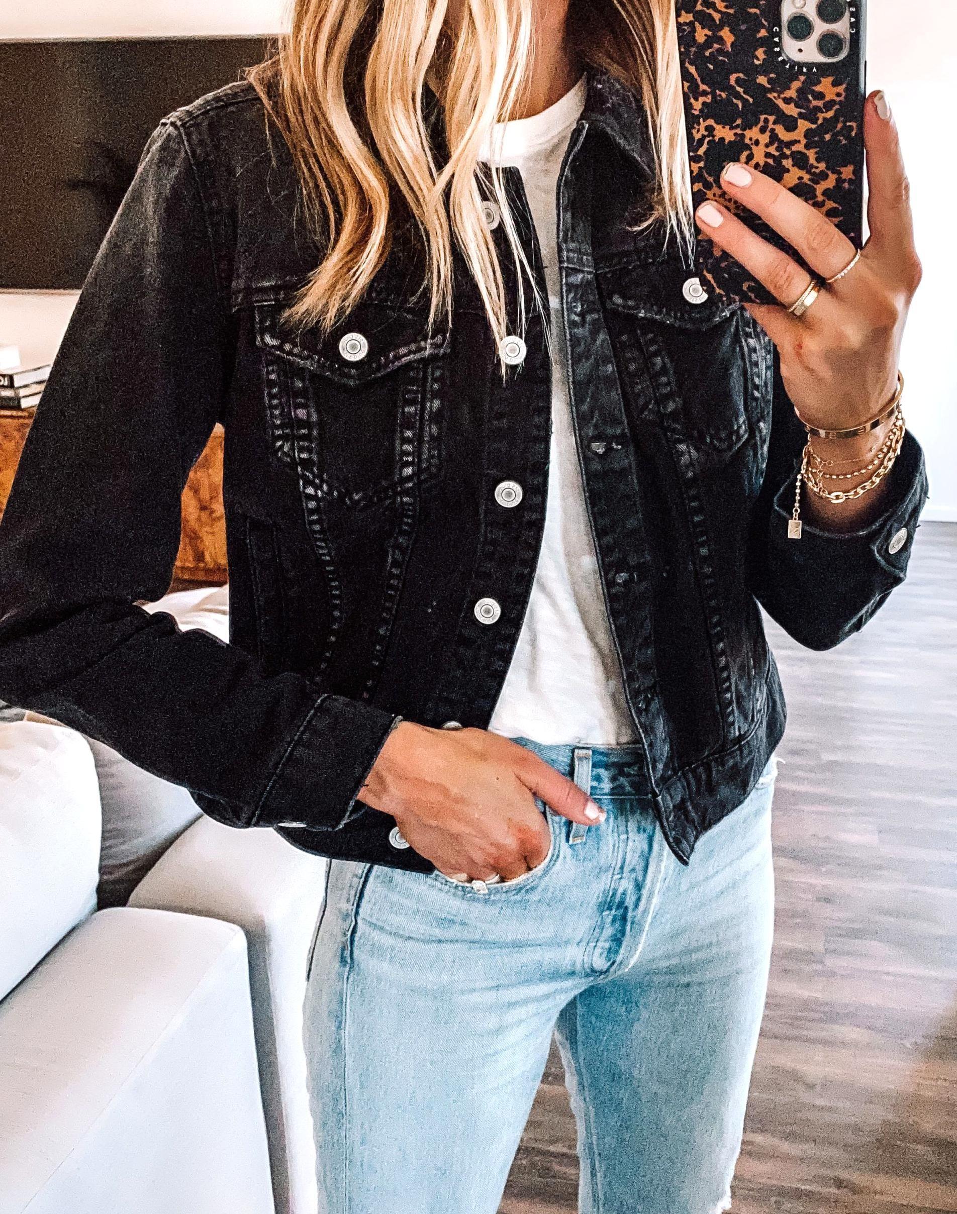 Fashion Jackson Wearing Black Denim Jacket White Tshirt Ripped Denim Jeans Jean Jacket Ou In 2020 Denim Jacket Outfit Fall Denim Jacket Outfit Black Denim Jeans Outfit [ 2416 x 1904 Pixel ]