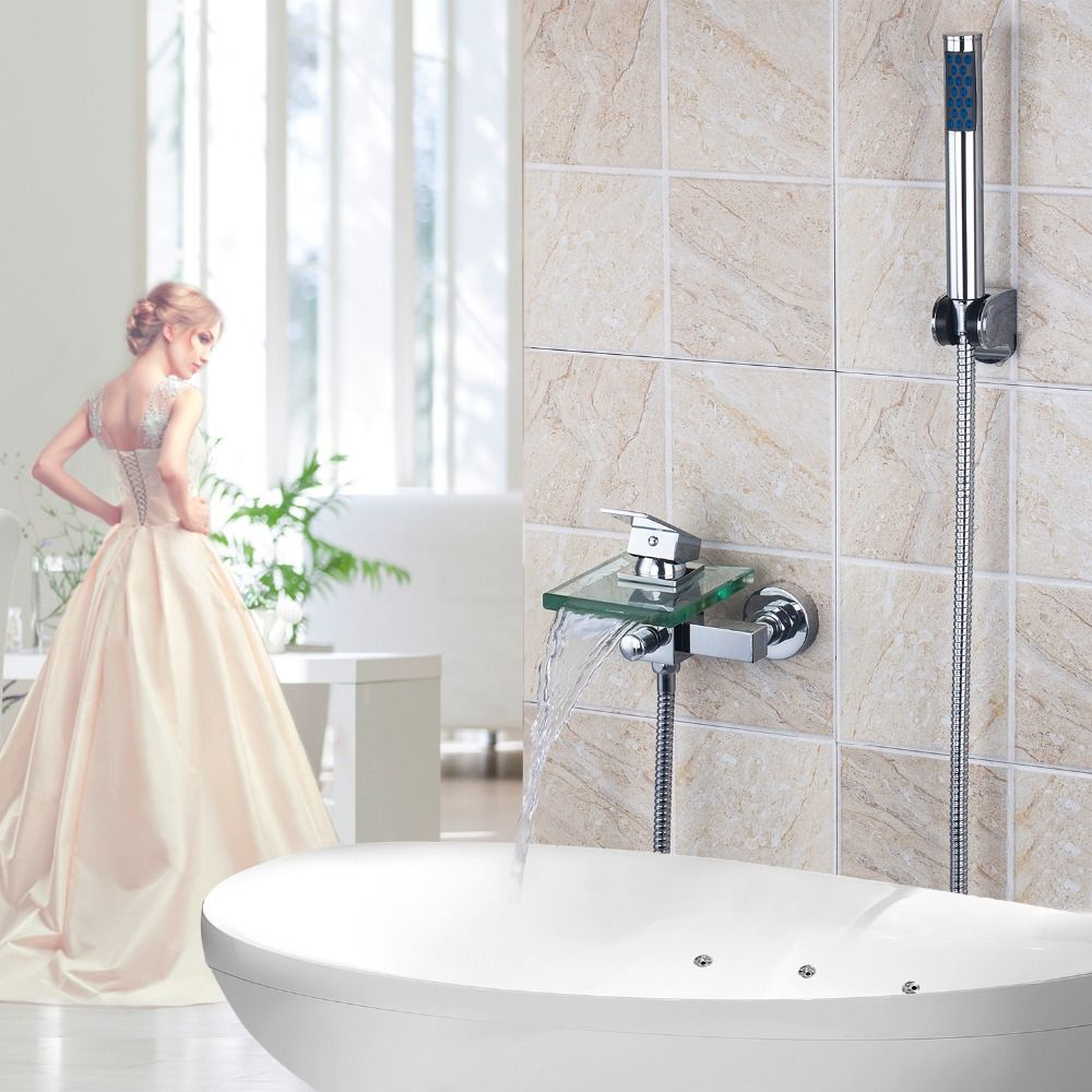 waterfall bathtub faucet,brass Hot and cold bath faucet,waterfall ...