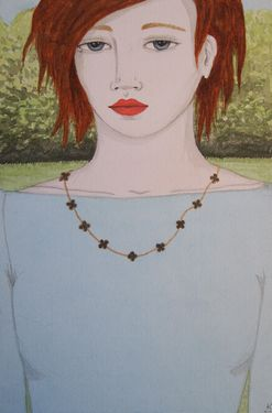 Red Head - Watercolour on paper - Kitty Cooper Art