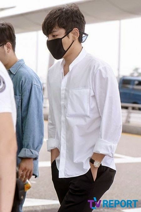T.O.P at Incheon Airport on September 12 (Friday) leaving for the YG Family concerts in Singapore this weekend