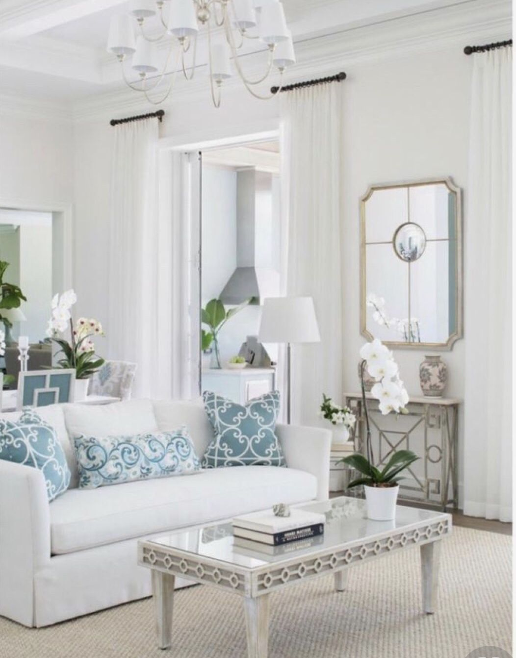 Tulip Silver And Gold Sectional Mirror In 2020 Elegant Living Room Room Decor Chic Living Room