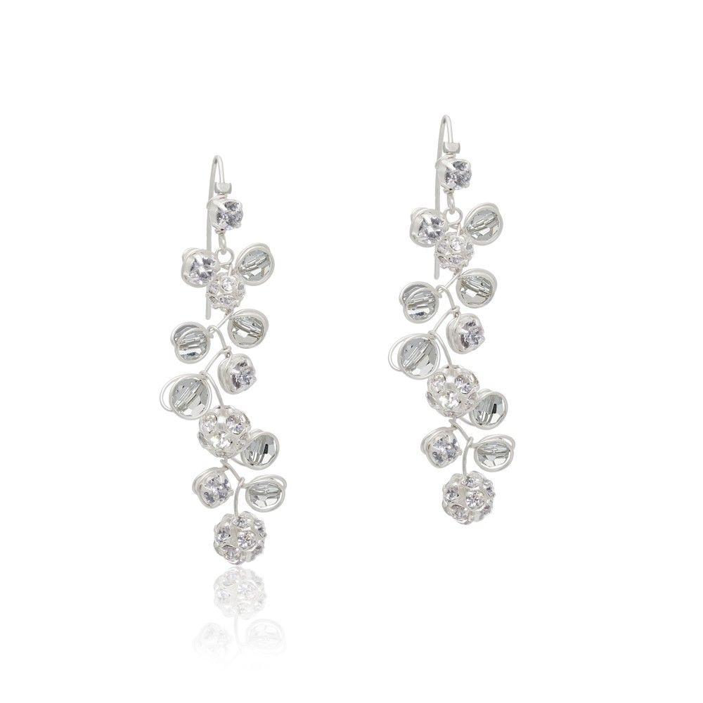 Silberohrringe mit Kristallen und Strass für die Hochzeit - Colares Schmuckdesign