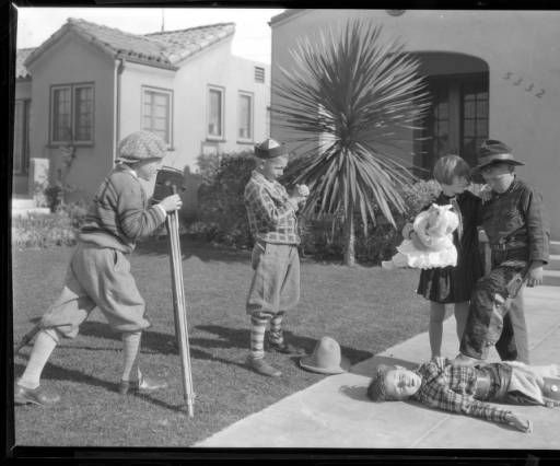 Kids making movies, View Park, Los Angeles. 1928. :: Photographs