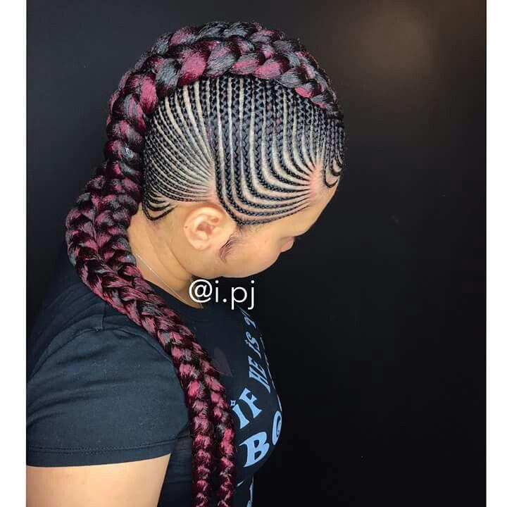's hot hair braided