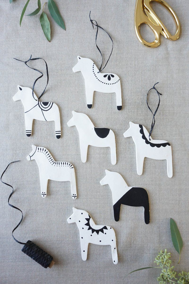 Photo of Scandinavian Modern Dala Horse Ornaments