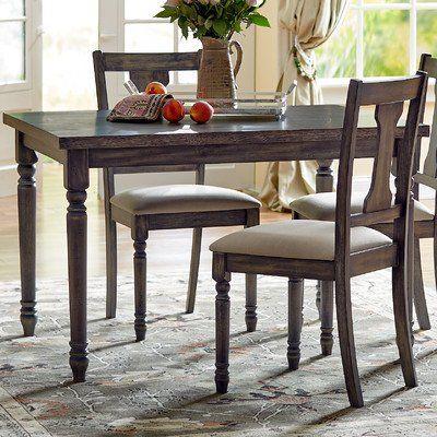 Amazon Com Loukas Dining Table Weathered Gray Finish Turned