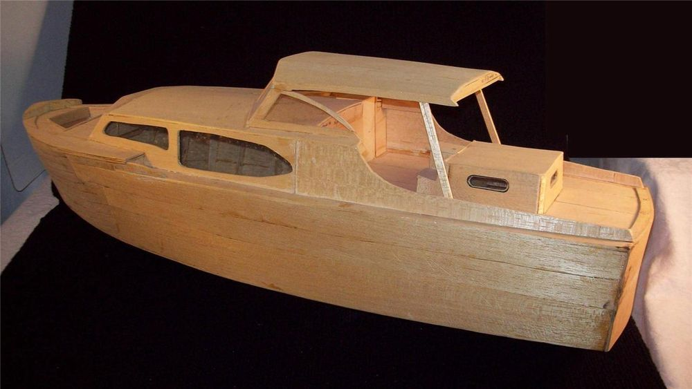 how to build a model boat from balsa wood
