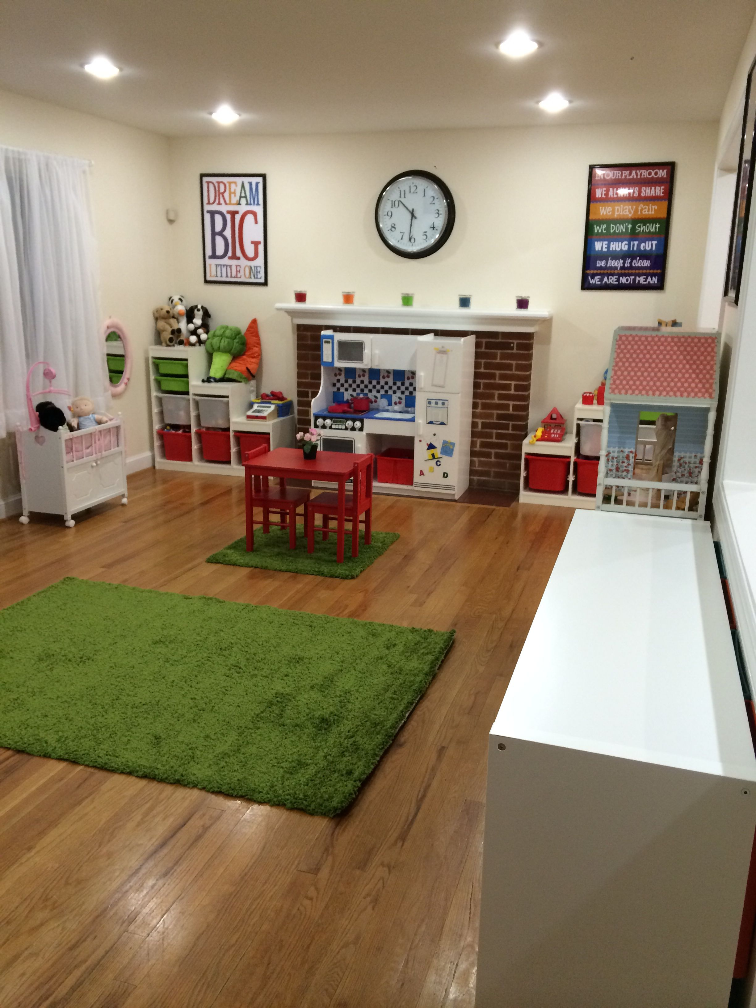 Home Rachelles Preschool Home Daycare: New Home Daycare Setup (a Lot Of It Was Pinterest Inspired