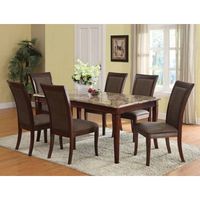 Acme Granada 7-Piece Dining Set - Brown