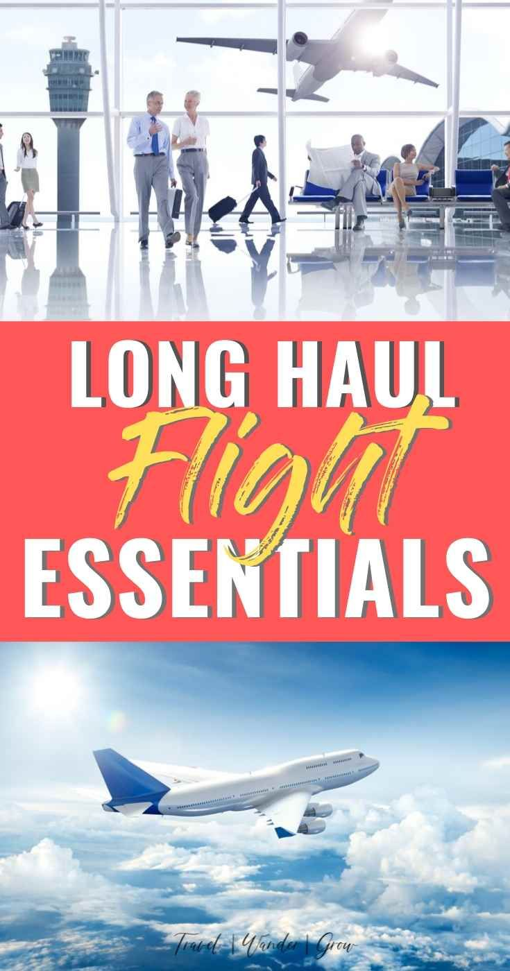 Are you heading on a long haul flight soon? Check out this post for the best long airplane ride tips. Get advice on what to wear on the journey, and general tips for how to enjoy being on a plane for such a long time. Get ideas for what you absolutely must pack in your carry-on as well as what to do on your layovers as well. Learn which essentials you must take with you on the journey as well. #longairplaneridetips #longhaulflightessentials