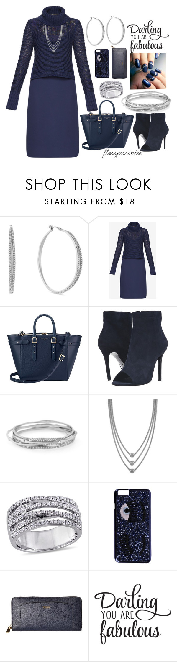 """""""Darling You Are Fabulous!"""" by florymcintee ❤ liked on Polyvore featuring Jessica Simpson, BCBGMAXAZRIA, Aspinal of London, The Kooples, Chiara Ferragni, Tumi and WALL"""