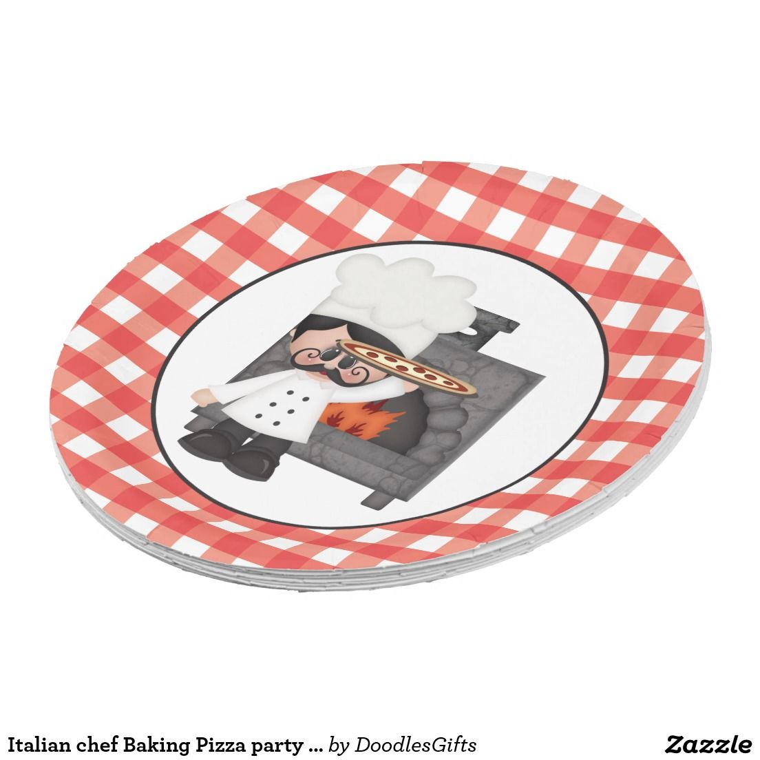 Italian chef Baking Pizza party paper plate  sc 1 st  Pinterest & Italian chef Baking Pizza party paper plate | Italian chef Pizza ...
