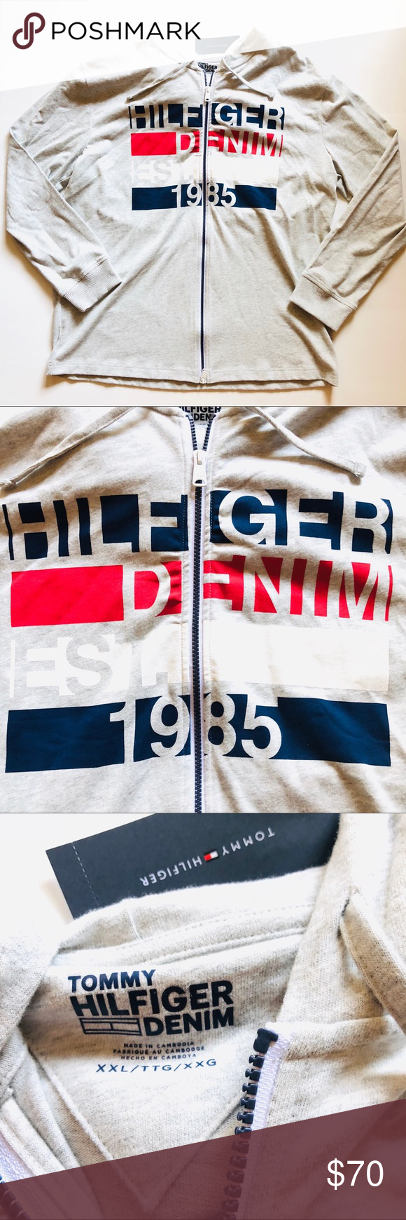 9fdd01d8ce941 Tommy Hilfiger Mens Long Sleeve Hoodie Sz XXL 2XL Brand New with Original  Tag - Tommy