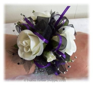 purple wrist corsages for weddings this one plum