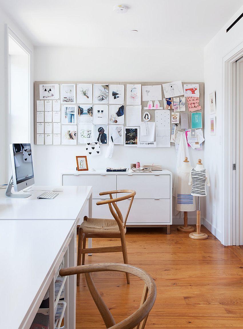 Neue wohnzimmer innenarchitektur monochromatische magie  möglichkeiten das home office in weiß zu