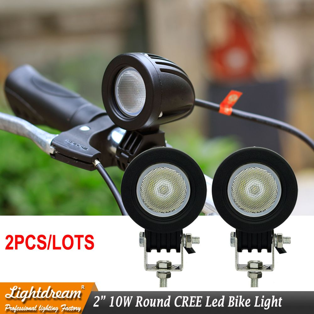 10w Led Work Light 12v 24v Car Auto Suv Atv 4wd Awd 4x4 Bike Wagon Offroad Led Driving Fog Lamp Motorcycle Truck Headlig Bike Wagon Bike Lights Led Offroad Led