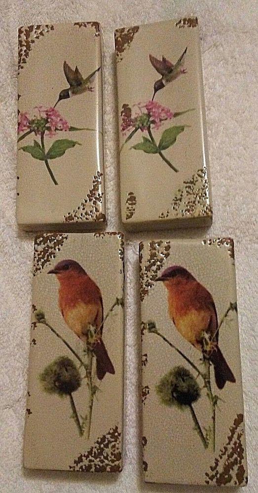 Wall Pockets by Garden Ridge Wall Decor Ceramic with Bird Designs