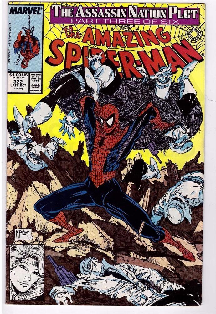 THE AVENGERS #322  Marvel Comics 1990 NM