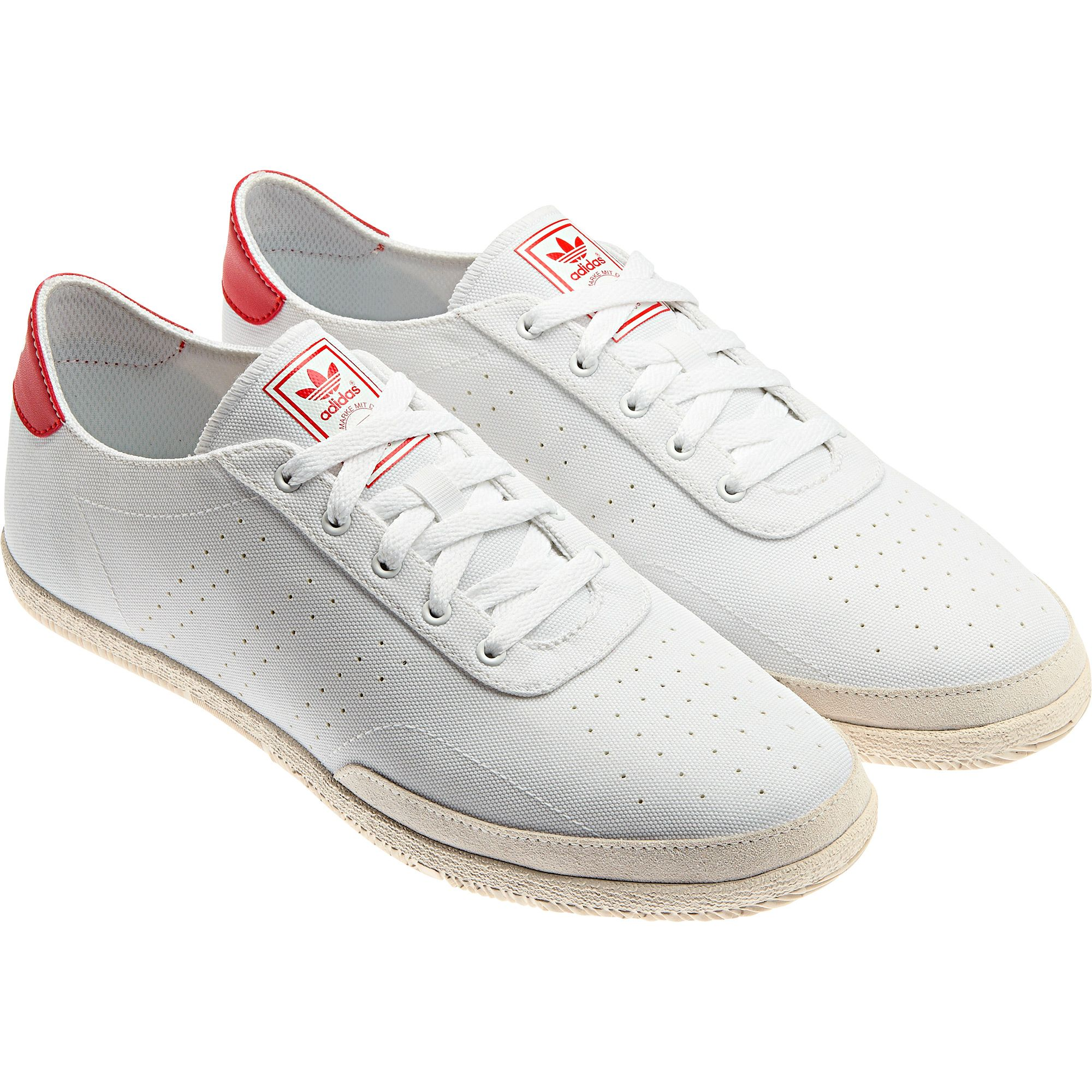 size 40 5c35a d4997 adidas Plimsole 3 Schuh, running white / vivid red / running ...
