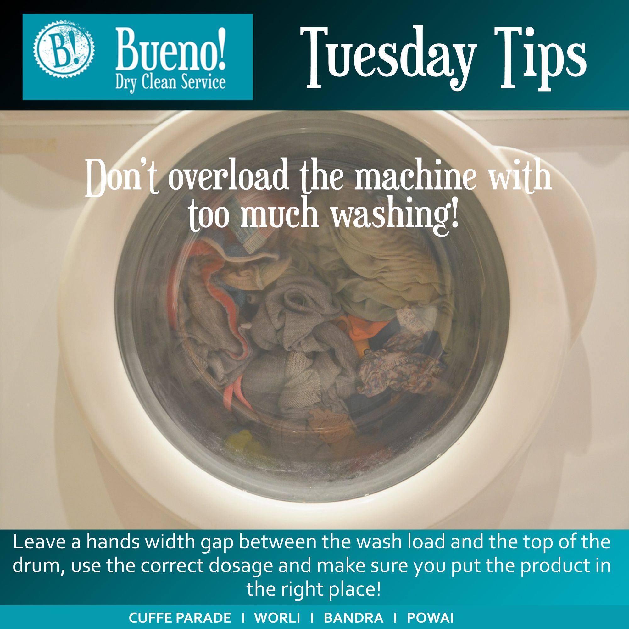 Tuesday Tip Overloading Of Machine With Too Many Clothes Can Lead