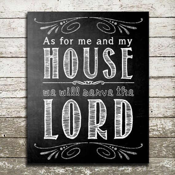 Bible Verse Wall Art   As For Me And My House We Will Serve The LORD    Scripture Gift Print