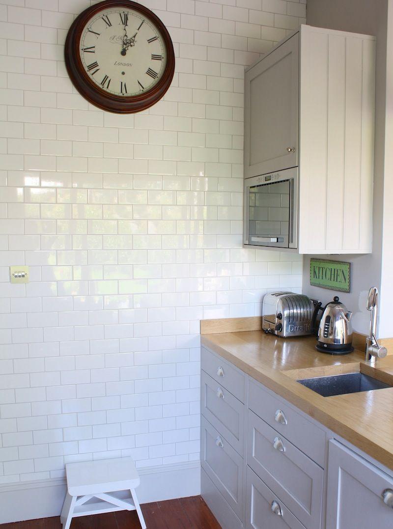 Kitchen with white metro tiles   My Nest   Pinterest   Metro tiles ...