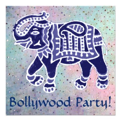 Bollywood party card - invitations personalize custom special - invitation card event