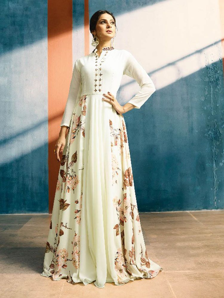 dd9f0eec9c Latest Bollywood Indian long dresses anarkali suit womens party wear ethnic  gown #Handmade #Gown