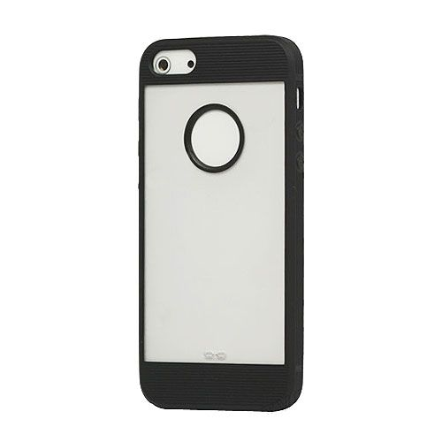 Black iPhone 5 Frosted Window TPU Plastic Case
