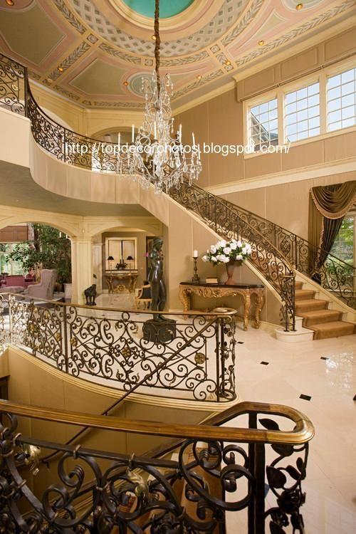 سلالم ادراج قصور قصر فخمة كلاسيك مداخل رخام اجمل قصور خليجية Luxury Staircase Dream House Interior Staircase Design