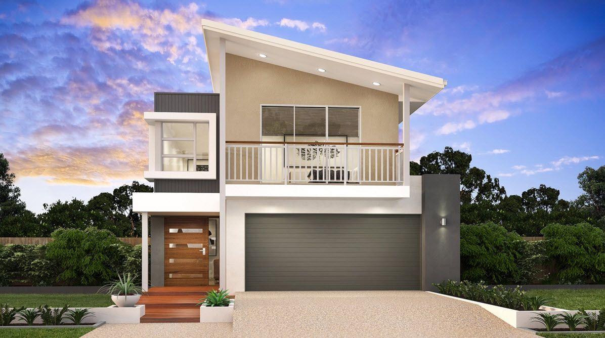 Idea fachada casa dos pisos moderna Ideas