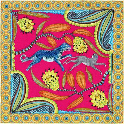 432116fdf37e La Maison des Carrés Hermès   The Savana Dance   Hermes Scarves and ...
