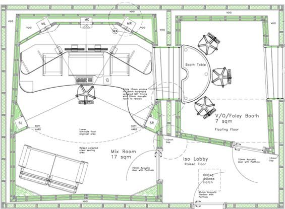 Studio Plans And Designs home recording studio plans   design ideas 2017-2018   pinterest