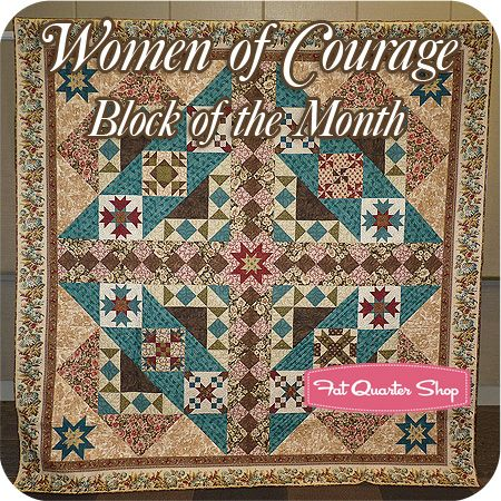 Women of Courage Block of the Month Denise Lipscomb of Common Threads Quilting and Windham Fabrics