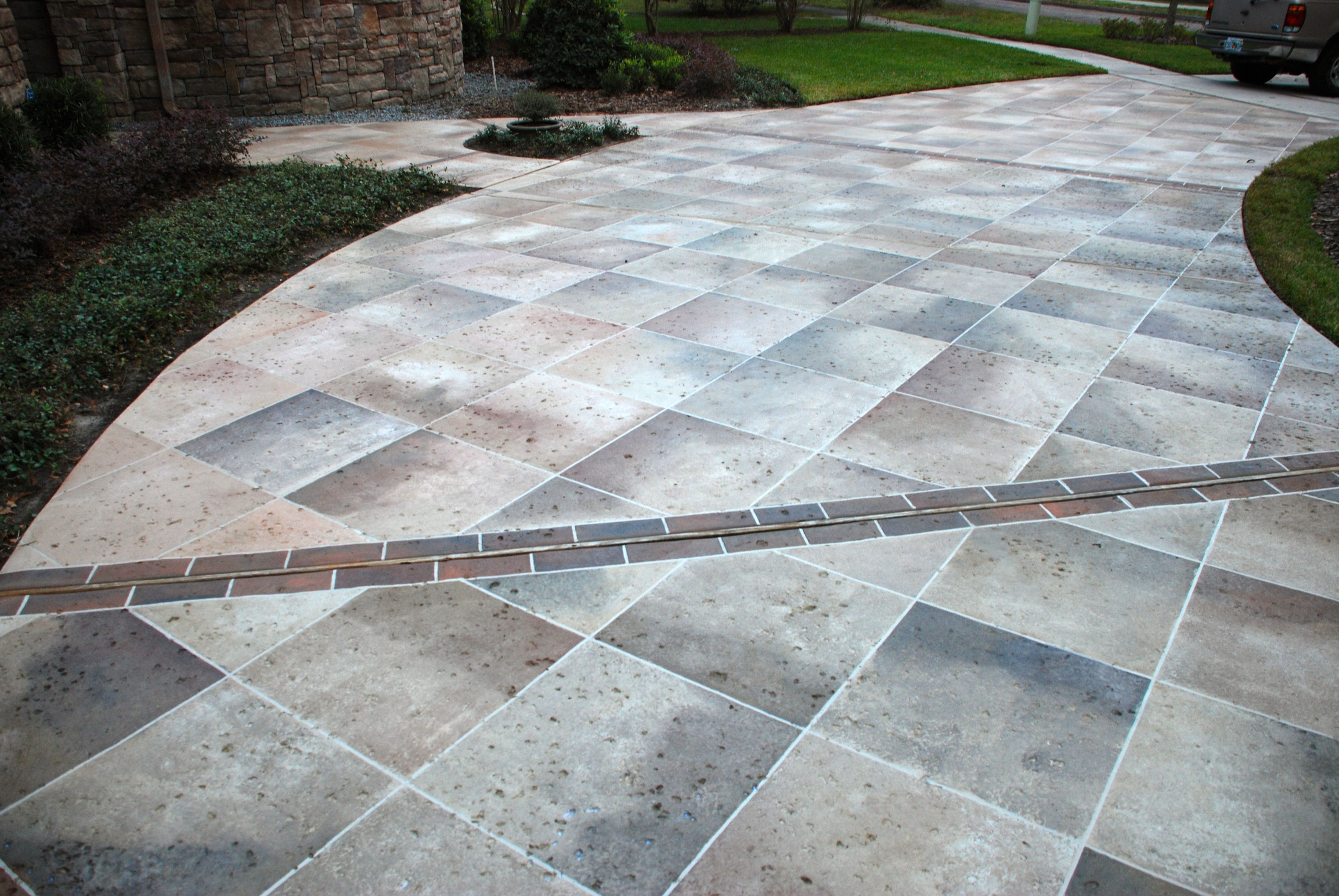 Concrete Driveway Design Ideas stamped concrete designs ideas for stamped concrete driveway with cool front yard patio designs Stained Concrete Driveways Concrete Staining Orlando Decorative Concrete Driveway Decorating Fun Diys Pinterest Driveway Design Idea Paint And