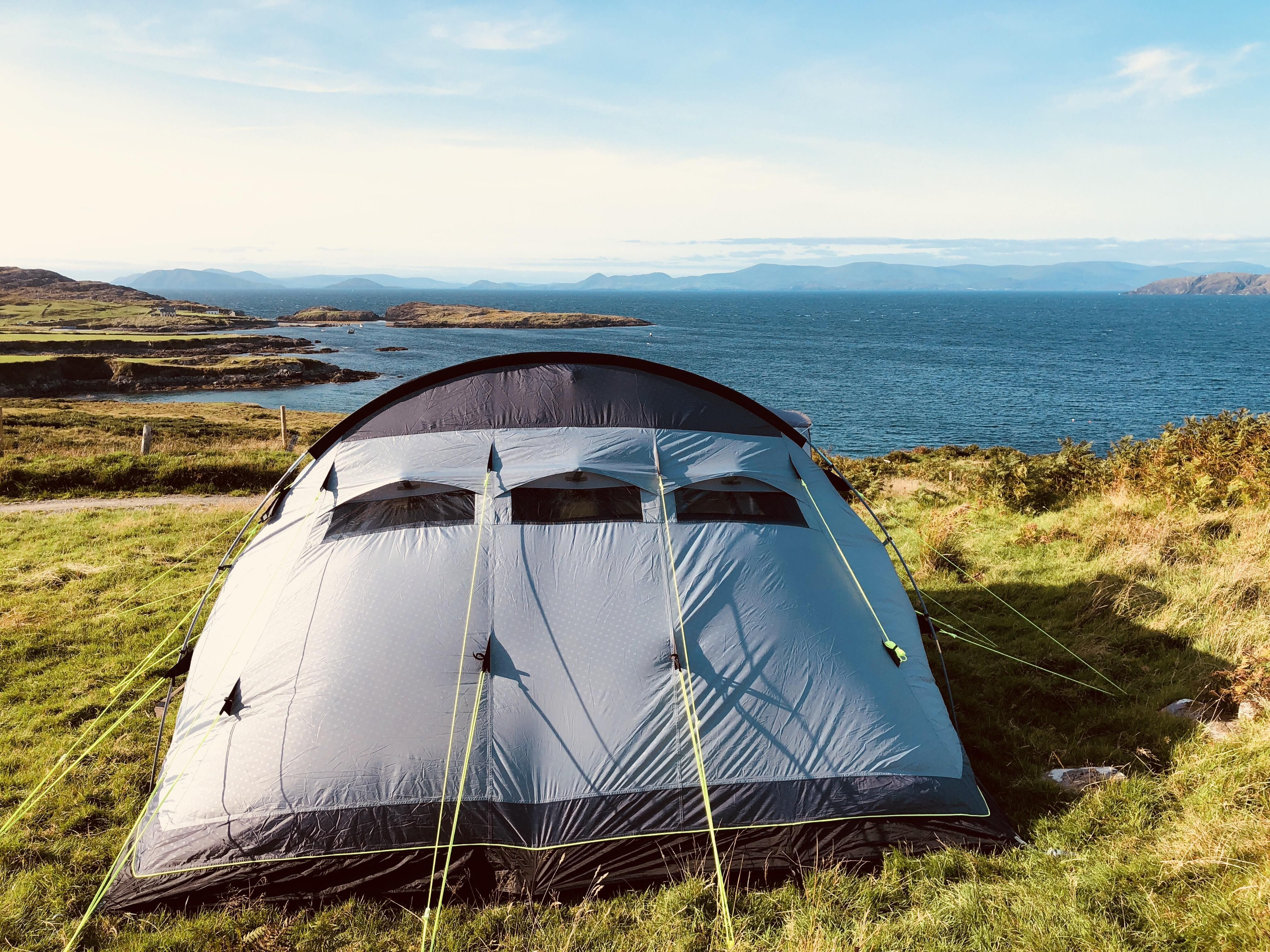Pitched Our Tent On The Beara Peninsula Near Bantry Co Cork Ireland Stunning Views That Didnt Cost Us A Buck Save For Camping And Hiking Tent Stunning View