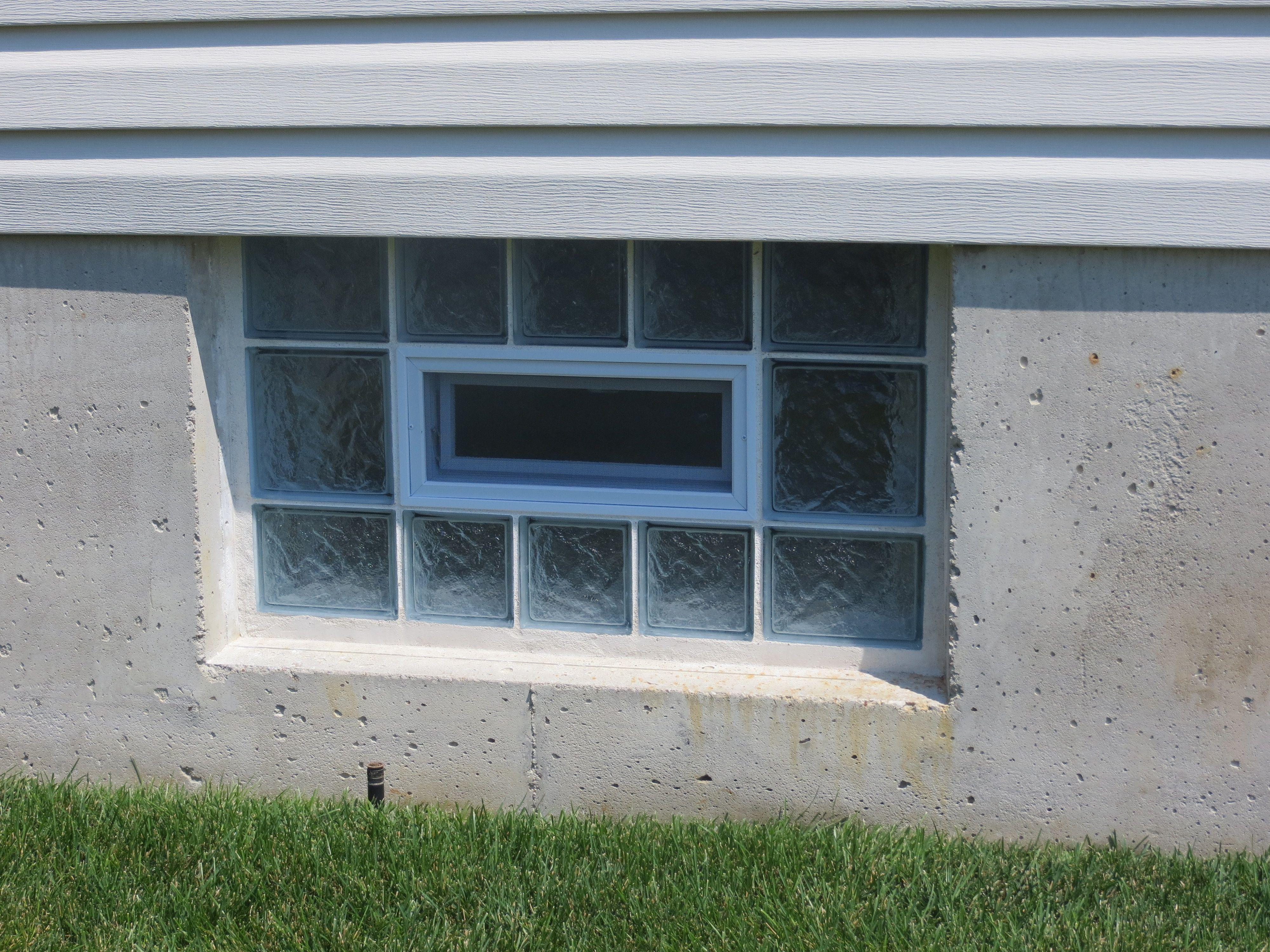 Gl Block Basement Window In O Fallon Missouri Installed By