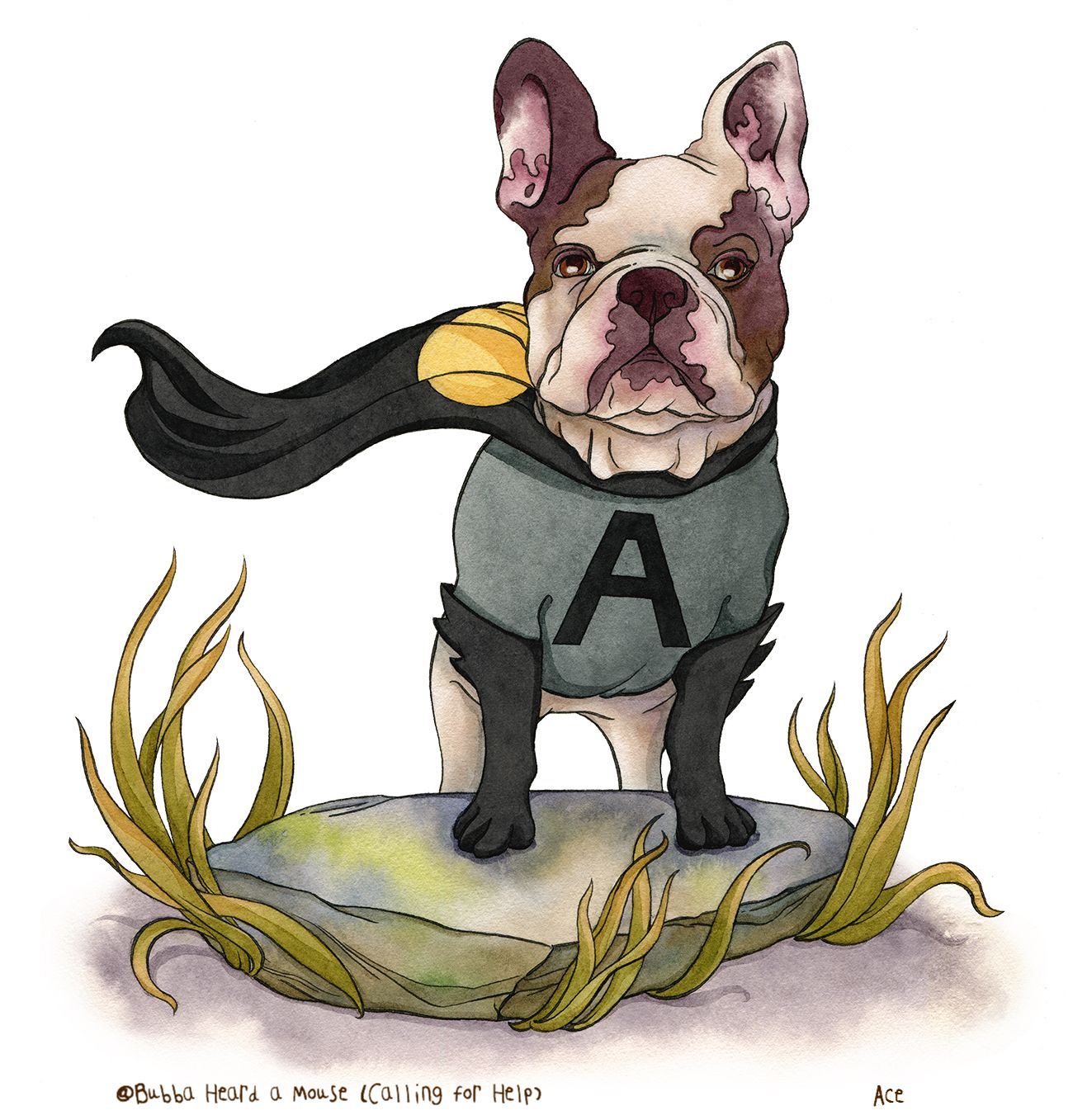 Ace The Crime Fighting Frenchie From Chapter 6 Of Bubba Heard A Mouse Calling For Help Available On Amazon Com