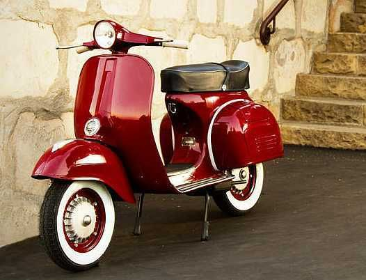 1966 vespa reminds me of a flamin red fire truck red red