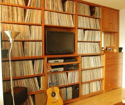 Shelving For Storing Vinyl Lp Records Have A Large