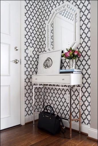 ديكورات مداخل للشقق الصغيرة افكار مهمة لتزيين مداخل المنازل Home Decor Foyer Decorating Grey And White Wallpaper